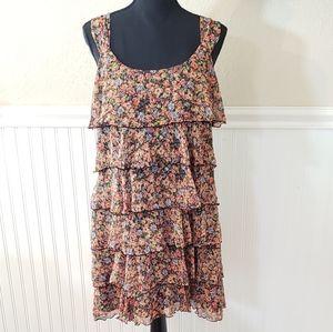 Suzi Chin floral multi tier dress